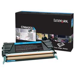 Lexmark C746/748 Toner Cartridge Cyan Ref C746A2CG