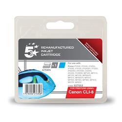 5 Star Office Compatible Inkjet Cartridge Page Life 935pp Cyan [Canon CLI-8C Alternative]
