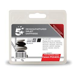 5 Star Office Compatible Inkjet Cartridge Page Life 600pp Black [Canon PG-540XL Alternative]
