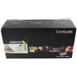 Lexmark C752 Toner Cartridge Yellow Ref 15G031Y