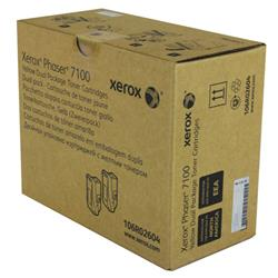 Xerox Phaser 7100 Toner Cartridge High Yield Yellow Pk 2 Ref 106R02604