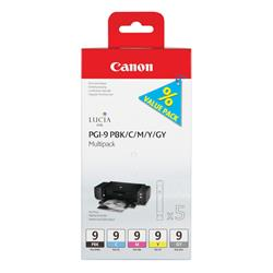 Canon Ink Cartridge PGI9 Multi-Pk Black/Cyan/Magenta/Yellow/Grey 1034B013