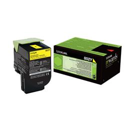 Lexmark 802Y Toner Cartridge Yellow Ref 80C20Y0