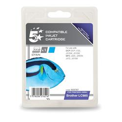 5 Star Office Compatible Inkjet Cartridge Page Life 260pp Cyan [Brother LC985C Alternative]