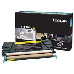 Lexmark X748 Return Programme Toner Cartridge High Yield Yellow Ref X748H1YG