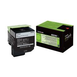 Lexmark 802XK Toner Cartridge Extra High Yield Black Ref 80C2XK0