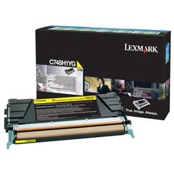 Lexmark C748 Return Programme Toner Cartridge High Yield Yellow Ref C748H1YG