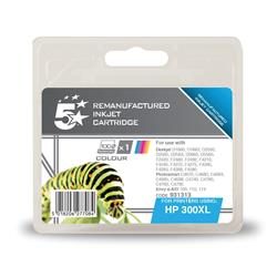 5 Star Office Remanufactured Inkjet Cartridge Page Life 440pp Colour [HP No. 300XL CC644EE Alternative]