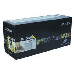 Lexmark C770 Return Programme Toner Cartridge Yellow Ref C7700YS