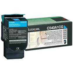 Lexmark Return Programme Toner Cyan Ref C540A1CG