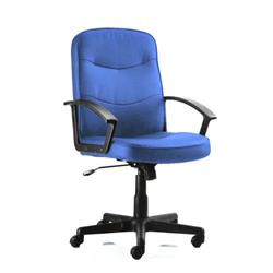 Harley Executive Chair Blue Fabric With Arms Ref EX000036