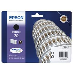 Epson 79 Tower Of Pisa Inkjet Cartridge 14.4ml Black Ref C13T79114010 Pk1 Ref C13T79114010