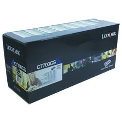 Lexmark C770 Return Programme Toner Cartridge Cyan Ref C7700CS
