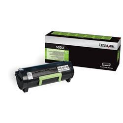 Lexmark 502U Toner Cartridge Ultra High Yield Black Ref 50F2U00