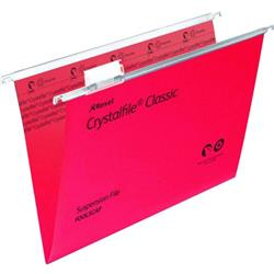 Twinlock Crystalfile Classic Suspension File Manilla V-base 15mm Foolscap Red Ref 78141 - Pack 50