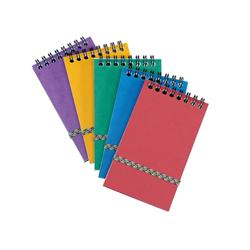 Notepad Wirebound Elasticated Ruled 90gsm 120 Pages 176x76mm Assorted C - Pack 20