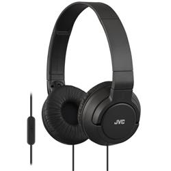 JVC On Ear Headphones Built-in Mic and Remote Foldable Black Ref HA-SR185-B-E