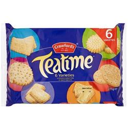 Crawfords Teatime Varieties Biscuits Assorted 6 Types 275g Ref 0401016