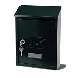 G2 Avon Postbox Steel 2 Keys Fixing Kit W223xD86xH320mm Black
