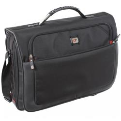 Gino Ferrari Titan Messenger Bag with Laptop Compartment Nylon Capacity 17 Inch Black Ref GF521