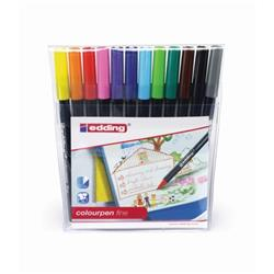 Edding Colouring Fibre Pen Fine Tip Non-permanent 12 Assorted Colours Ref 1421999 [Pack 12]