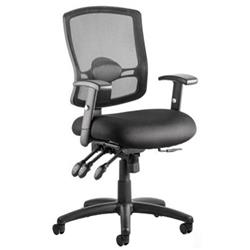 Portland III Task Operator Chair Black Mesh Back With Arms Ref OP000110