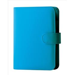 Collins Paris Pocket Organiser Padded Leather With 2017 Diary Insert 120x81mm Teal Ref KT2860