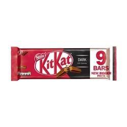 Nestle Kit Kat Bars Dark Chocolate 2 Fingers Ref 12339410 [Pack 9]