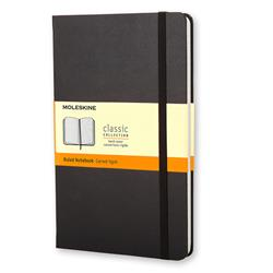 Moleskine Classic Notebook Hard Cover Ruled 240pp 70gsm Large 130x210mm Black Ref QP060