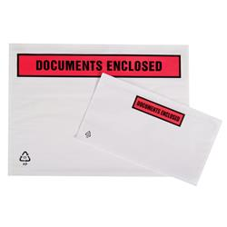 Documents Enclosed Wallet Self-adhesive Printed A4/C4 318x325mm (Pack 500)
