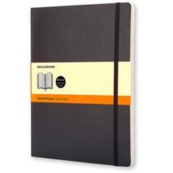 Moleskine Classic Notebook Soft Cover Ruled 192pp 70gsm XLarge 190x250mm Black Ref QP621