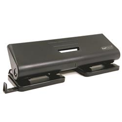 Rapesco 75-P 4-Hole Punch ABS-top Capacity 16x 80gsm Black Ref PF75P0B1