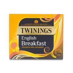 Twinings Tea Bags English Breakfast Fine High Quality Aromatic Ref 0403135 [Pack 100]