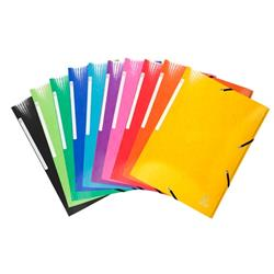 Iderama 3 Flap Folders Elasticated Premium Pressboard 35mm Assorted Ref 55829E [Pack 25]