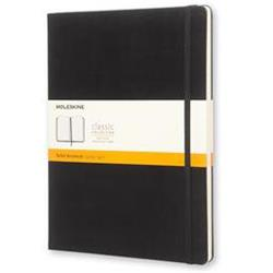 Moleskine Classic Notebook Hard Cover Ruled 192pp 70gsm XLarge 190x250mm Black Hard Ref QP090