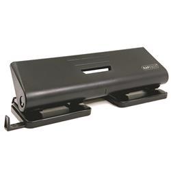 Rapesco 75P Punch 4-Hole ABS-top Capacity 16x 80gsm Black Ref PF75P0B1