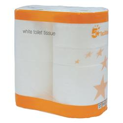 5 Star Facilities Toilet Tissue Two-ply 4-Rolls of 320 Sheets White [Pack 36]