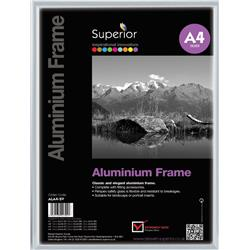 Photo Frame Clip In Aluminium with Clear Perspex Front A4