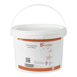 5 Star Facilities Hand and Surface Wipes Anti-bacterial Smooth 23gsm 28x28cm [Tub 150 Sheets]