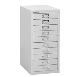 Bisley SoHo Multidrawer Cabinet 10-Drawer H590mm Grey Ref 101228