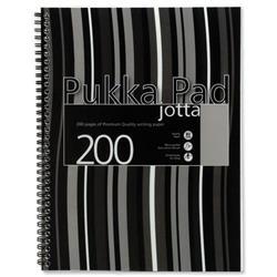 Pukka Pad Jotta Notebook Wirebound A4 Black Stripes Ref JP018-5 [Pack 3] [x2 & FREE A5 Pad]