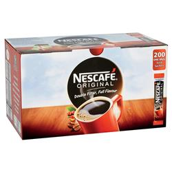 Nescafe Original Instant Coffee Granules Stick Sachets Ref 12165415 [Pack 200]