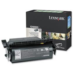 Lexmark T620/T622 30k Black High Yield Return Program Laser Toner Print Cartridge Ref 12A6865
