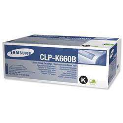 Samsung CLP-K660B Black High Capacity Laser Toner Cartridge for CLP-610/CLP660/CLX-6200 Ref CLP-K660B/ELS