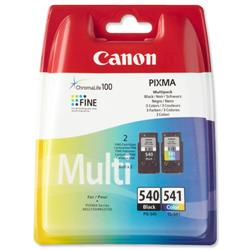Canon PG-540/CL-541 Inkjet Cartridge Page Life 180pp Black/Colour Ref 5225B006 - Pack 2