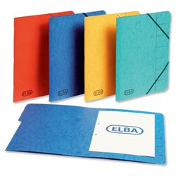 Elba Boston Part File Pressboard Elasticated 7-Part Foolscap Blue Ref 100090169 [Pack 5]