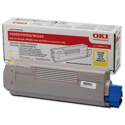 OKI Yellow Laser Toner Cartridge for C5850/C5950 Ref 43865721