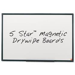 5 Star Office Drywipe Board Magnetic Lightweight with Fixing Kit and Detachable Pen Tray W1800xH1200mm