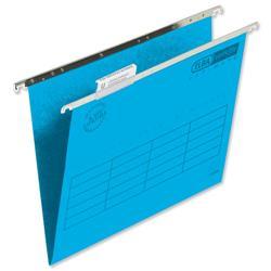 Elba Verticfile Ultimate Suspension File Manilla 240gsm Foolscap Blue Ref 100331115 [Pack 50]