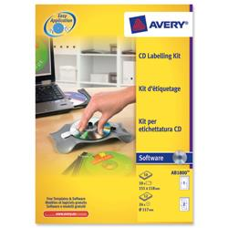 Avery afterBURNER Label System Software with Applicator 24 Labels 10 Inserts Ref AB1800